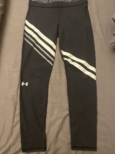 Womens Black Under Armour Sports Leggings Size L