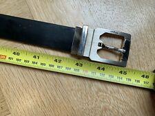 "Vintage Salvatore Ferragamo reversible belt black/brown steel buckle 43"" 110cm"