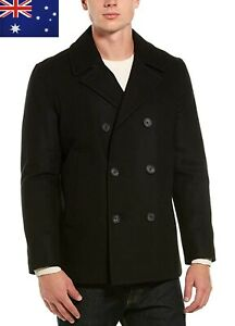 Brand New with tag / Nautica Men Wool Blend Pea Coat Black Size S (V825548)