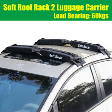 2pcs Car Roof Carrier Rack Black Oxford Foldable Luggage 60kgs Load Bearing
