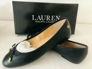 Ralph Lauren Ballerina schwarz mit Logo (38) neu und OVP