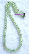 """Natural Prehnite Round Beads Necklace 6mm 15.8"""""""
