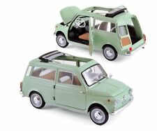 NOREV 1:18 1962 FIAT 500 GIARDINIERA DIE-CAST CAR MODEL 187723 GREEN