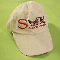 Savannah Dad Hat Cap Strapback Adjustable Horse Carriage Tan