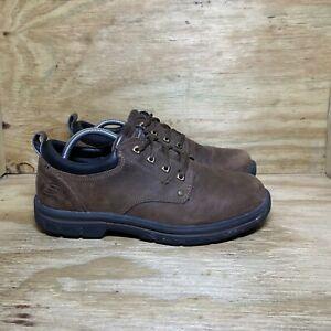 Skechers Men's Gel-infused Memory Foam Oxford Size 10 Leather Casual Shoes 64260