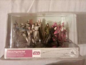 Disney Parks Star Wars Last Jedi Deluxe Figurine Set Kylo Ren, Rey, Poe NIB