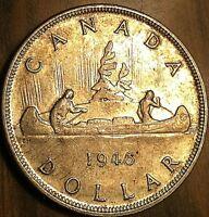 1946 CANADA SILVER DOLLAR COIN - Excellent example!