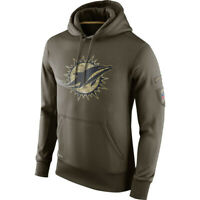 Miami Dolphins Hoodie Men's Sweatshirts Salute to Service Sideline Pullover Coat