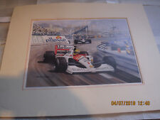 AYRTON SENNA 1991 MONOCO GRAND PRIX PRINT 41X34CM MICHAEL TURNER READ MORE