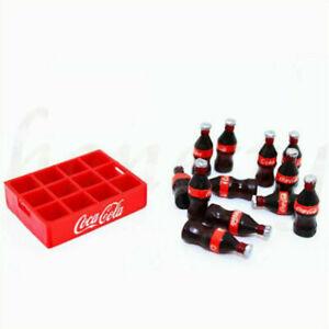 Set of 12 Dollhouse Miniature Mini Coca Cola With 1 Cola Base Model Decor