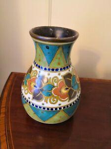 Gouda Holland Pottery - Floral Vase