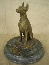 Vintage after P. J. MENE Patinated Bronze Figurine of Doberman Pinscher Dog