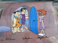Hanna Barbera signed The Return of Stoney Curtis Flintstone cel