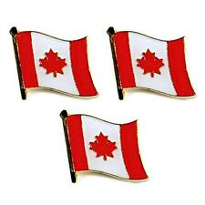 "LOT OF 3 CANADIAN FLAG LAPEL PIN 0.5"" Canada Maple Leaf Pinback Hat Tie Badge"