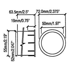 2 Penn Elcom M1530 Port Tubes Sub Woofer Tuner Speaker PA Cabinet Vent