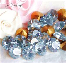 5 Swarovski ss47 Vintage Lavender Blue Crystal Chatons Gold Foil 47ss 1100 11mm