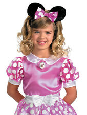 Disney Disguise Pink Sparkly  Minnie Mouse Halloween Costume Girls S/P 4-6X