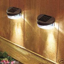 2x Nueva Energía Solar Valla Luces al aire libre Jardín de iluminación LED de pared de paso