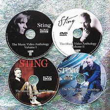 Pin & FREE STING Music Video Collection 1986-2017 4 DVD Set 6.5 Hrs One Fine Day