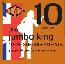 Rotosound JK10 Jumbo King Acoustic Guitar Strings 10 To 50