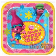 TROLLS SMALL PAPER PLATES (8) ~ Birthday Party Supplies Cake Dessert Dreamworks