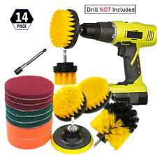 14Pcs/Set Drill Brush Power Scrubber Attachment Kit Tile Grout Carpet Cleaning