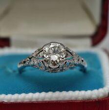 Diamond Platinum Ring Edwardian Fine Jewellery