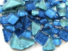 Turquoise Mix Glitter Glass Tiles - Mosaic Art Craft Supplies