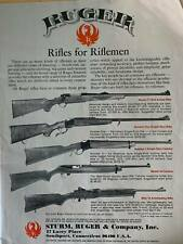 RUGER Vintage 1979 Print Advertisement Mini 14 Model 77 Model 44 B&W photos