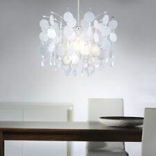 Hänge Lampe Plättchen Decken Leuchte Design Kristall Pendel Capiz-Optik perlmutt