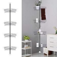 Telescopic Bathroom Organiser Caddy Shelf Corner Storage Shower Rack w/4 Baskets