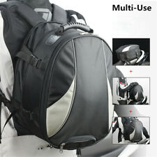 Motorcycle Tail Bag Backpack Helmet Storage Bag Travel Baggage With rain Cover