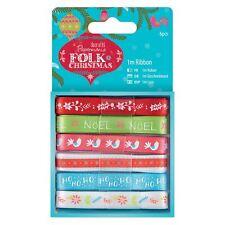 Do-crafts 1m Cinta (6 piezas) - Folk Navidad para tarjetas/manualidades