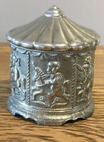 Vintage Money Box. Silver Plated. Merry Go Round Carousel Design