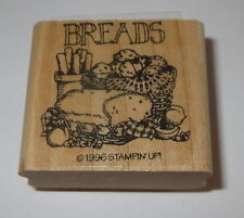 Breads Recipe Rubber Stamp Bread Loaf Muffins Stampin' Up! Retired 1996 WM New