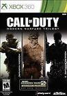 Call of Duty Modern Warfare Trilogy (3-DISC Xbox 360) 1 2 & 3 EXCELLENT CONDITIO