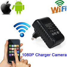 Full HD 1080P WIFI SPY Camera Wall Charger Hidden Cam Adapter DV Video Recorder