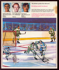 1971 72 HOCKEY ACTION REPLAY TRANSFERS #24 CESARE MANIAGO TED HARRIS NORTH STARS