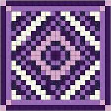 Quilt Kit/Diamond Cut/Pre-cut Fabric Ready To Sew/Purple Scrappy/QN/EXP ****