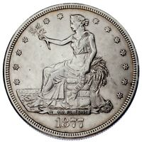 1877-S $1 Trade Dollar XF Condition, Light Gray Color, Strong Detail Both Sides