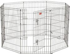 Dog Exercise Pen 36 in. High Heavy Duty Stakes Pet Puppy Outdoor Cage Gate