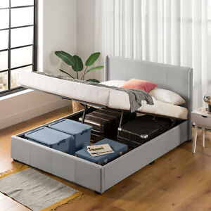 Zinus Bed Frame Queen Size Gas Lift Storage Upholstered Mattress Base