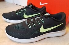 New Nike Men Free RN Athletic Training Shoes Running Sneakers Black 8.5