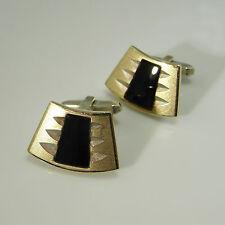 1970s 1960s Jewelry Minimalist 1970s Onyx Modernist Mens Cuff Links Cufflinks