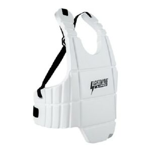 Lightning Sports Body Guard Sparring Chest Protector Karate Tae Kwon Do - White