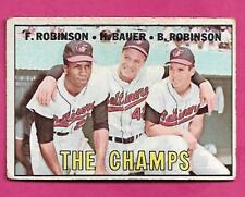 1967 TOPPS # 1 ORIOLES ROBINSON /BAUER /ROBINSON THE CHAMPS GOOD (INV# A8131)