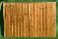 """Feather Edge 6Ft x 6ft Fence panel 1.25"""" x 1.25"""" Backing Rails with Capping"""