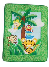 Fisher-Price Rainforest  ( Crib Comforter Only ) Green Discontinued Item