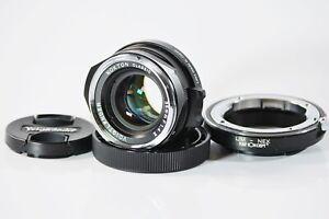 [Top Mint] Voigtlander NOKTON classic 35mm F1.4 II MC w/ L/M-NEX K&F from Japan