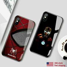 LED light Ironman Spiderman Marvel iPhone glass case iPhone XR
